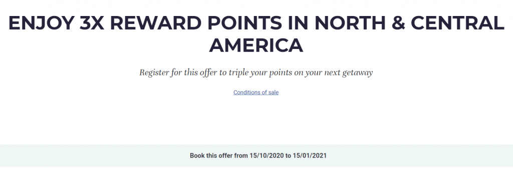 Earn 3x Bonus Points Accor Promotion