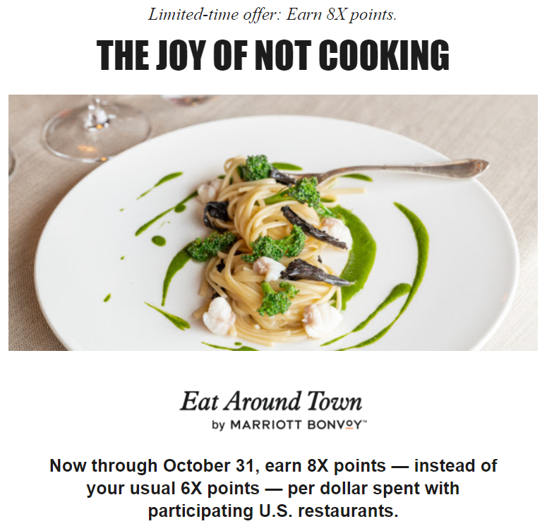 Eat Around Town promotional email