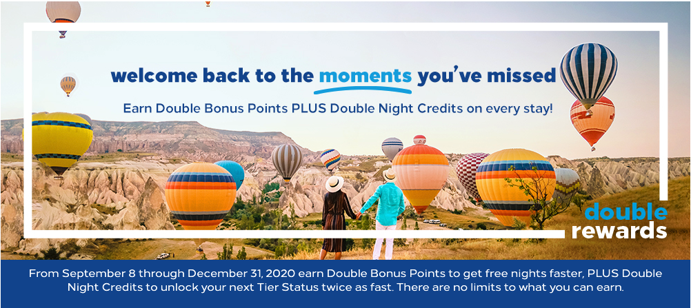 Earn Double Points and Double Nights with Hilton through the end of 2020