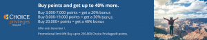 Choice buy points promotion banner
