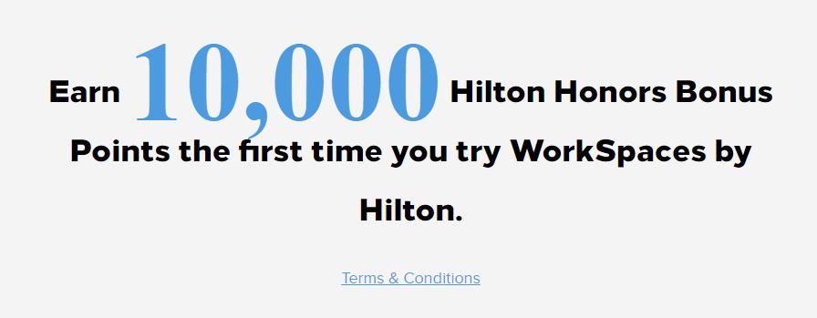 Hilton's New WorkSpace Promo
