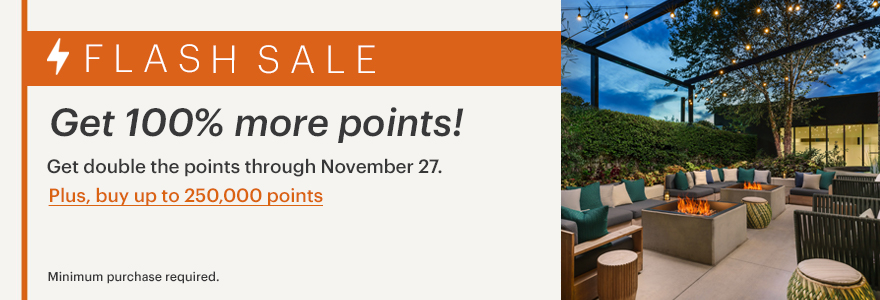 buy IHG points with a 100% bonus banner