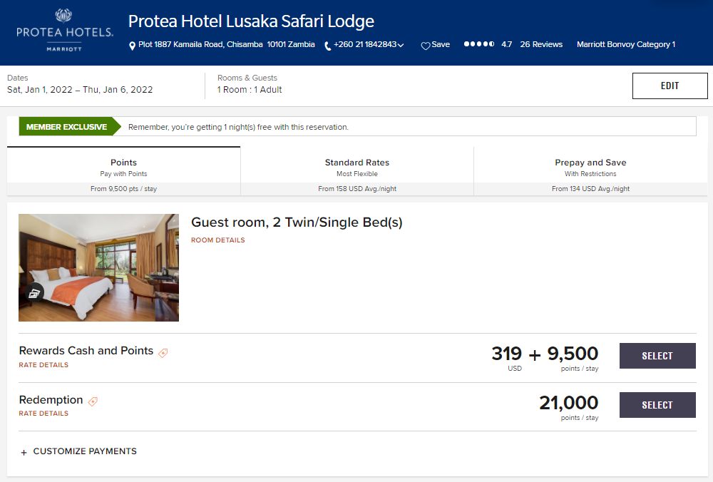 Buy Marriott points for just $188 total for this 5-night stay