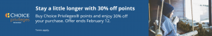 buy Choice points with a 30% discount