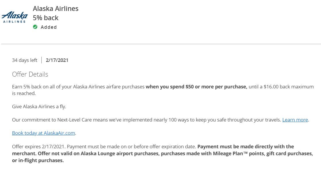 Alaska Chase Offers