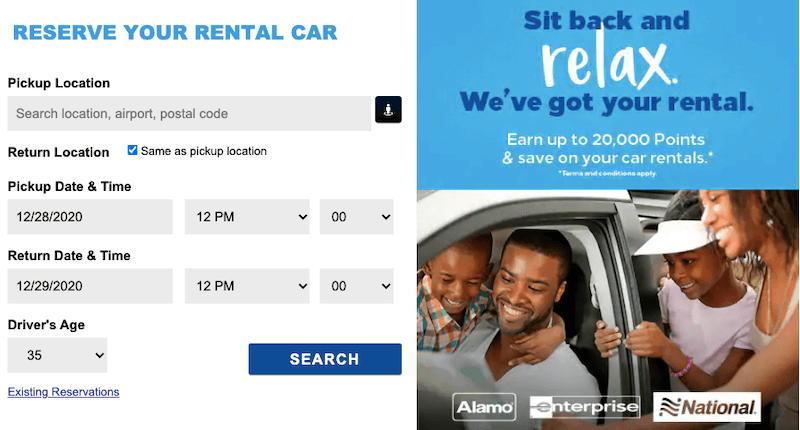 Hilton Honors Car Rental