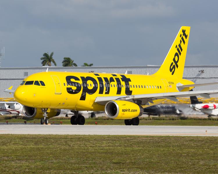 Spirit Airlines Airbus A319 Flugzeug Flughafen Fort Lauderdale