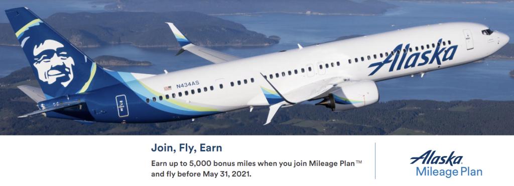 Alaska Airlines New Member Bonus Info