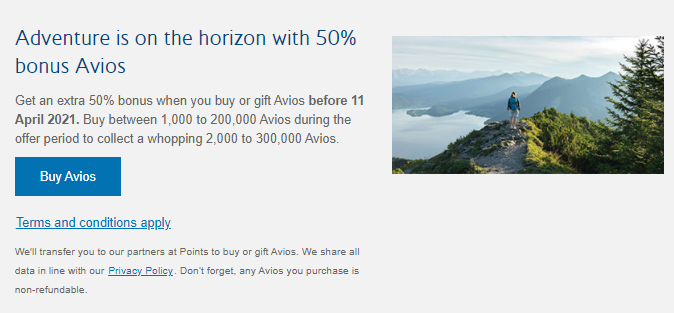 buy Avios with a bonus