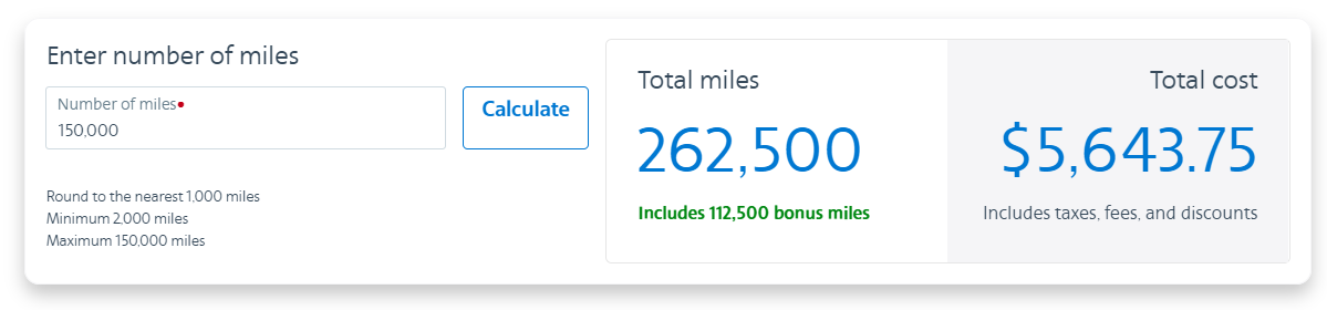 buy AA miles with a 75% bonus