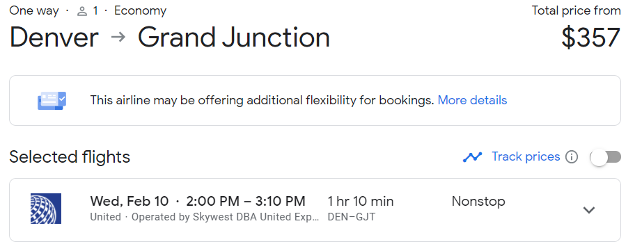 Pay just 6500 LifeMiles for this $357 flight