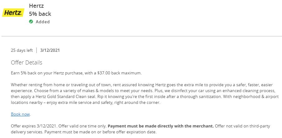 Hertz Chase Offers