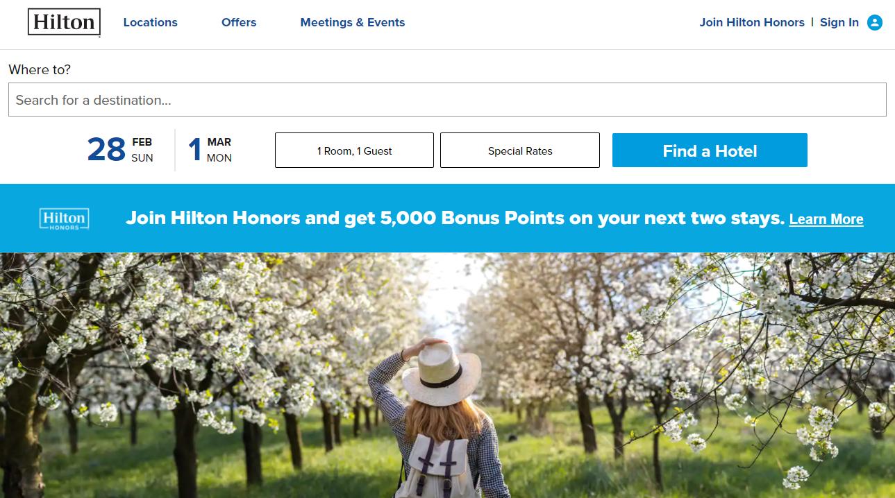 Hilton new member bonus