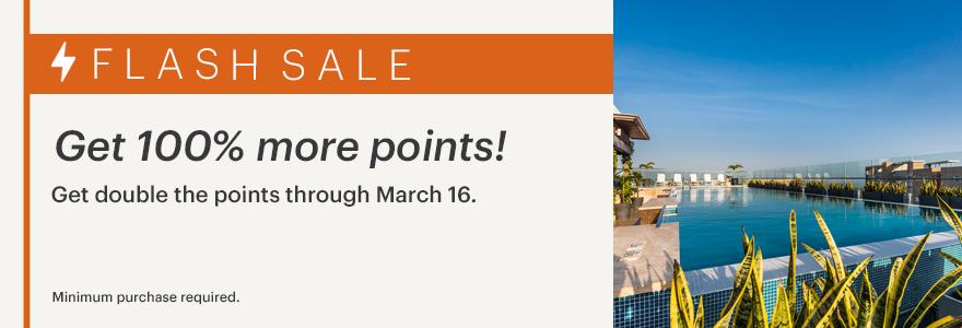 IHG buy points flash sale banner