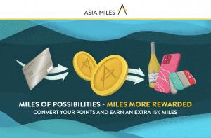 Asia Miles transfer bonus banner