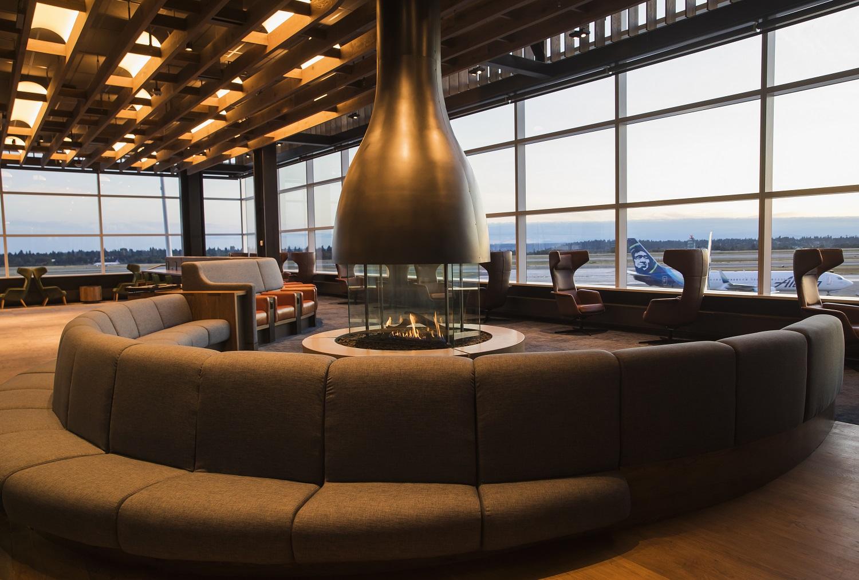 Alaska's lounge in Seattle
