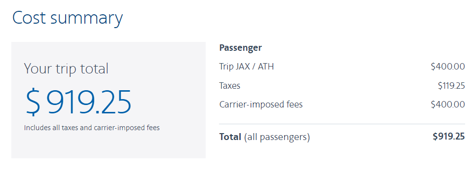 Add your base fare plus carrier-imposed fees to get the AA EQD earnings
