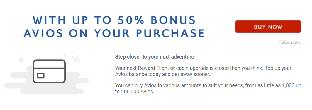 buy Avios with a 50% bonus
