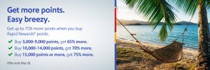 buy Southwest points with 75% bonus