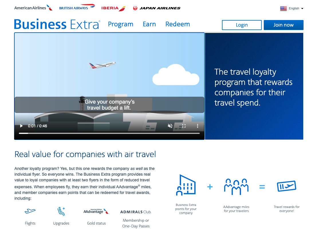 Business Extra is American Airlines' small business program