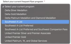Alaska elite status match eligible competitor levels