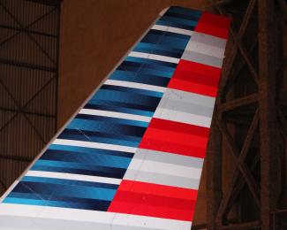 American Airlines Airbus A321 Tail