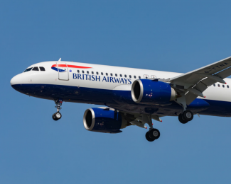 A British Airways Airbus A320neo is seen on approach.