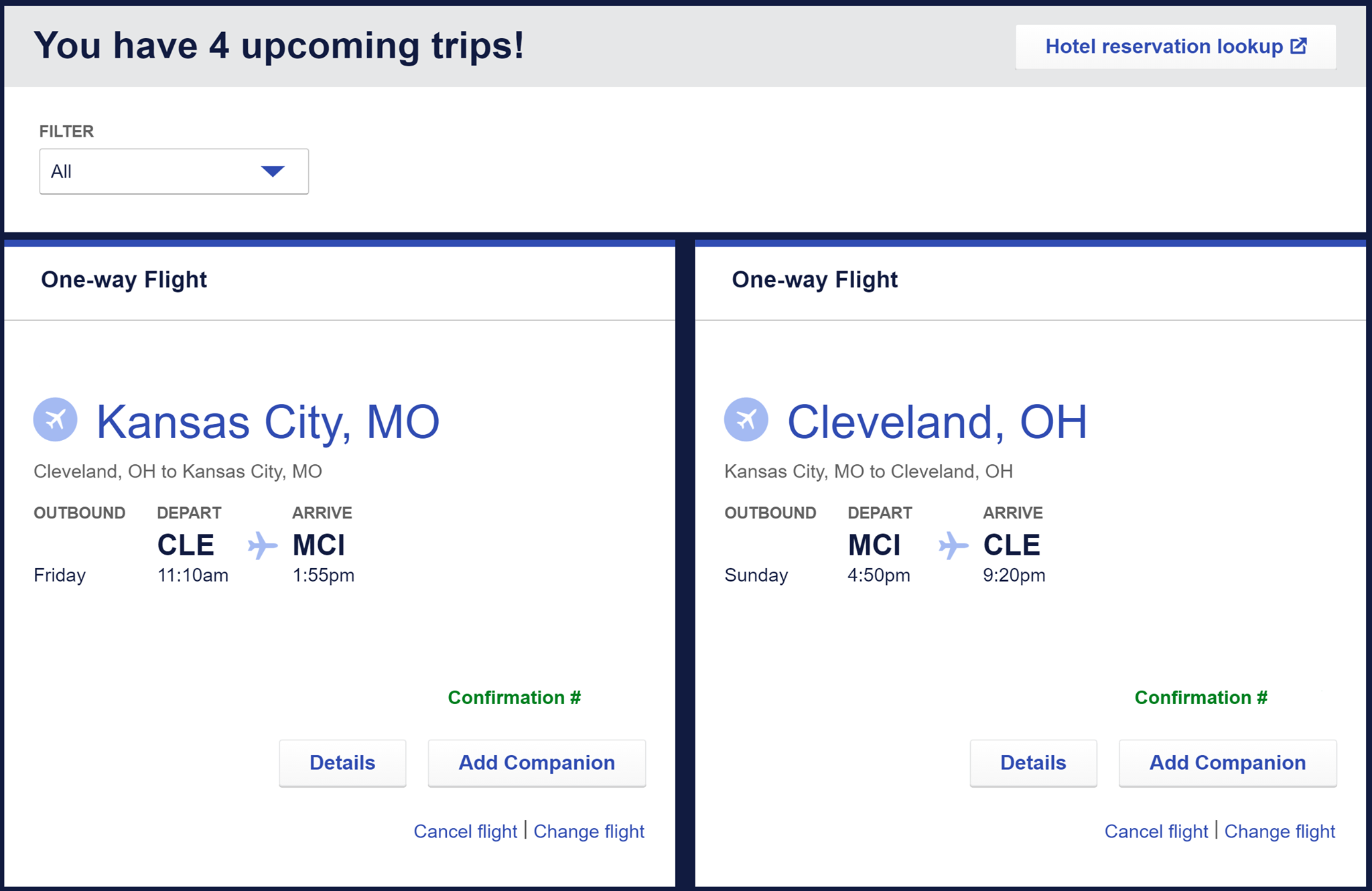 How to add a companion to your Southwest flight