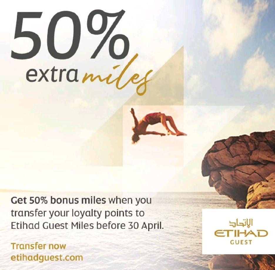 Etihad Guest Transfer Bonus banner