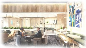 Capital One new airport lounge rendering