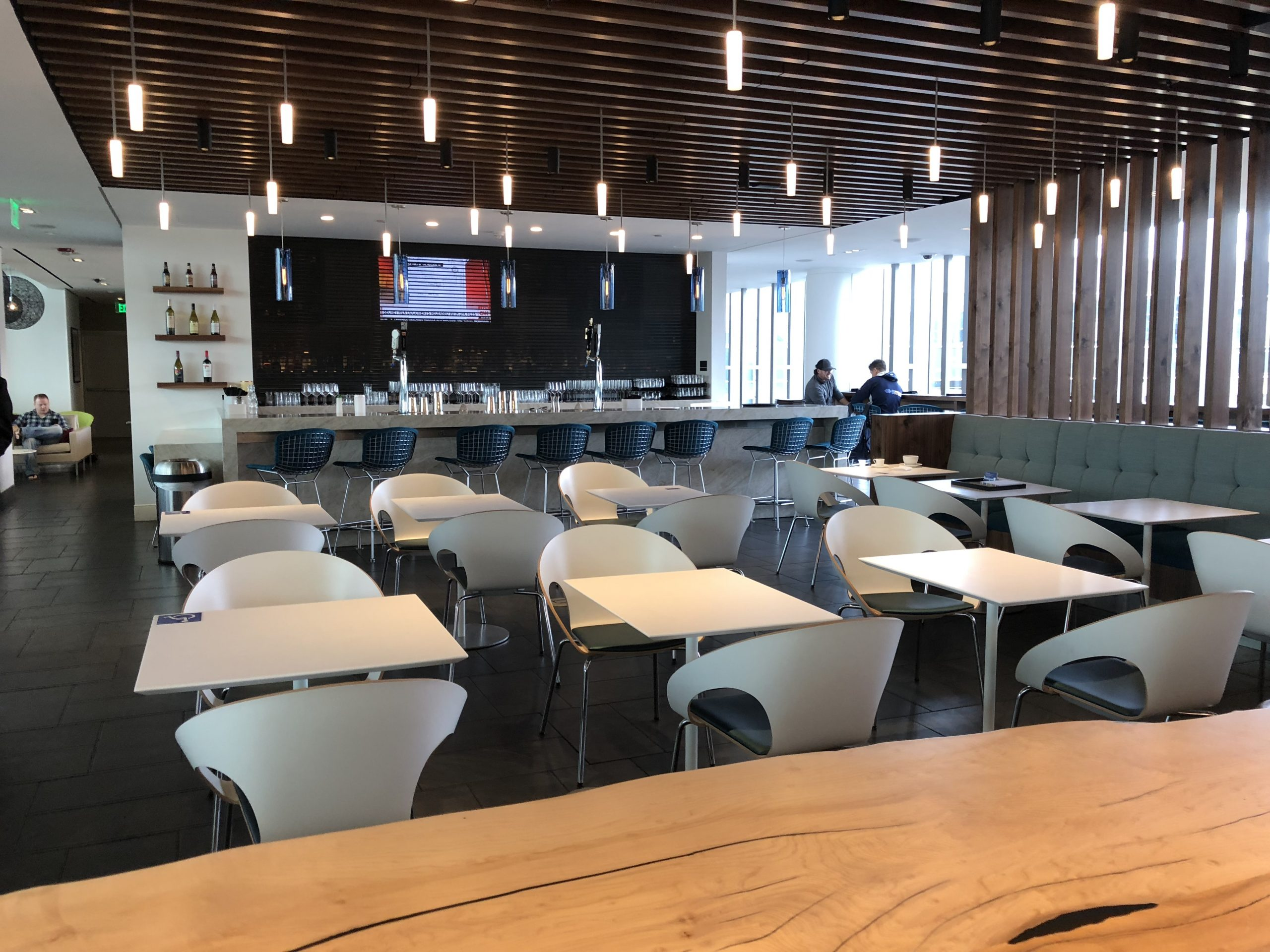 Centurion Lounge Philadelphia view of bar and dining area