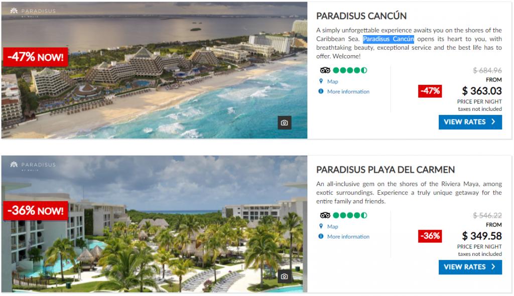 Melia Cancun Hotels