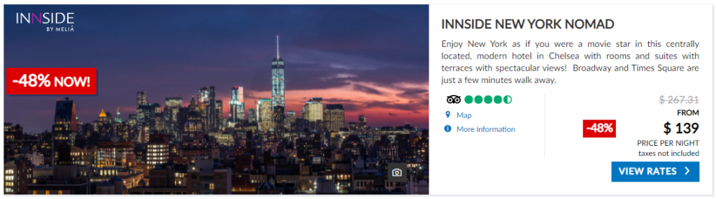 Melia Hotel New York from $139 per night