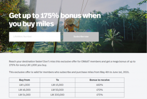 buy LifeMiles promotion