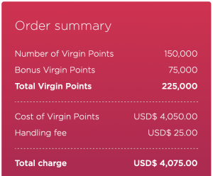 buy up to 225,000 Virgin points through this promotion
