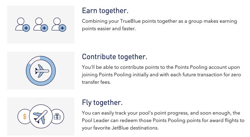 jetblue points pooling lets you combine your trueblue rewards