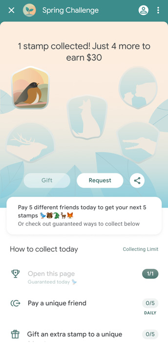Google Pay Spring Challenges promotion