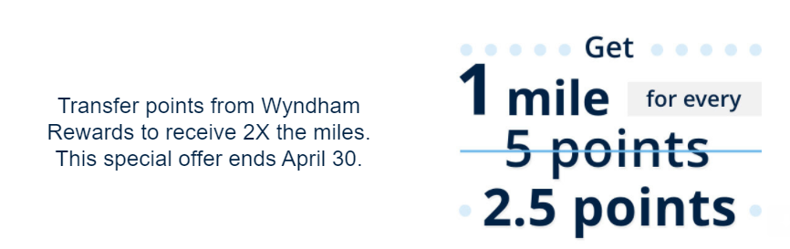 Wyndham Rewards United MileagePlus transfer bonus