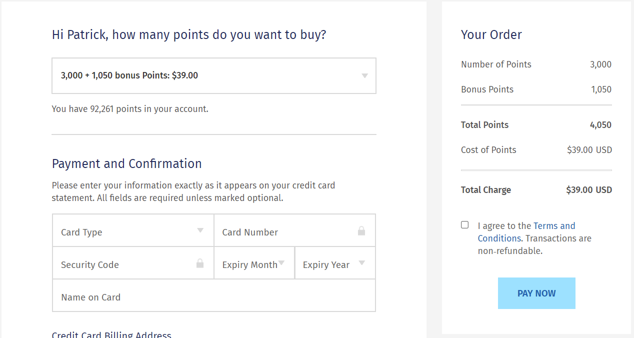 buy Wyndham points example