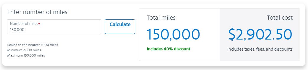 buy AA miles with a 50% bonus