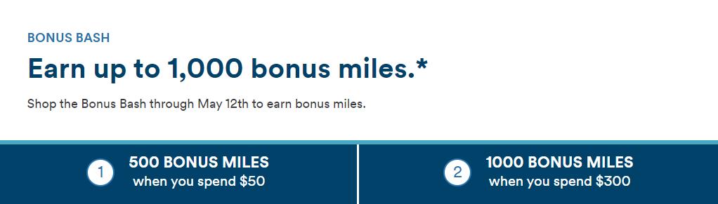 Alaska May 2021 Shopping Bonus