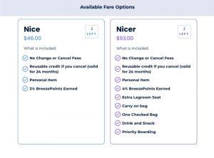 Breeze Airways fares
