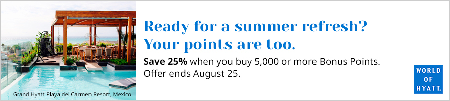 buy Hyatt points with a 25% discount