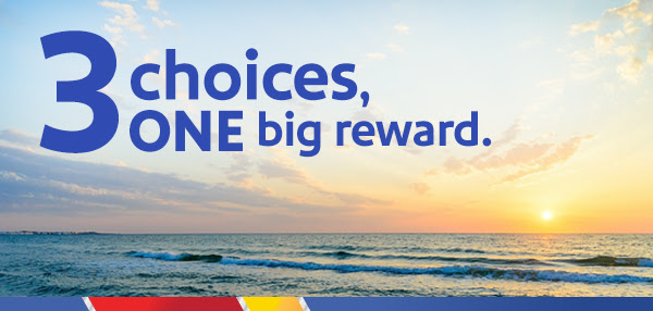 Southwest is offering targeted members 3 choices of rewards