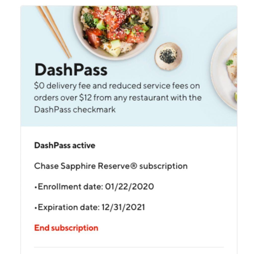 Chase DashPass offer