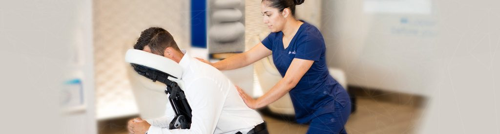 Get a back massage through Priority Pass experiences