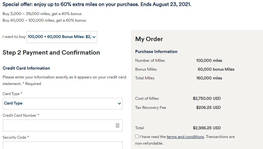 Alaska buy 100k miles with 60% bonus example