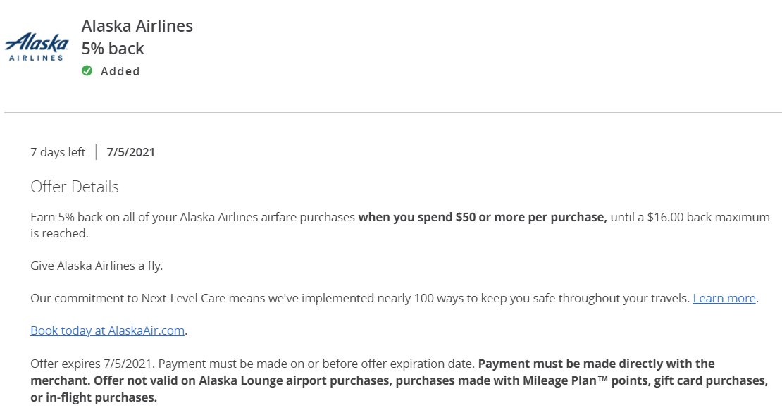 Chase Offers Alaska