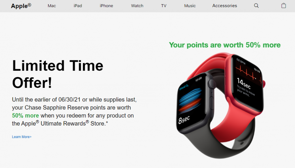 Chase Ultimate Rewards for Apple Products Promo