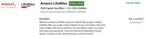 Capital One LifeMiles transfer bonus